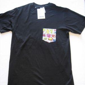 KEITH HARING Men's Pocket T-Shirt Size Small NEW